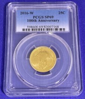2016-W 25-Cent 100th Anniversary Liberty Gold SP-69 PCGS - 2