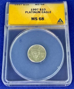 1997 $10 Eagle Platinum MS-68 ANACS