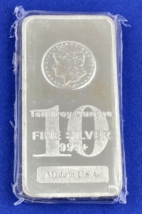 Ten Troy Ounce Silver Bar