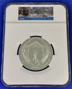 2015 5 oz Silver Homestead MS-69PL NGC