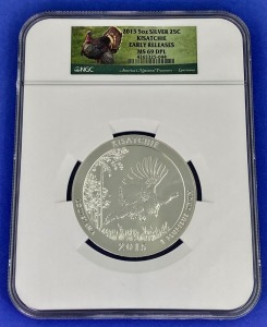2015 5 oz Silver Kisatchie MS-69DPL NGC