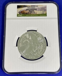 2015 5 oz Silver Blue Ridge MS-69PL NGC
