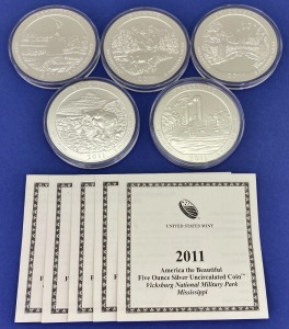 "2011 US Mint ""America The Beautiful"" Silver Coins"
