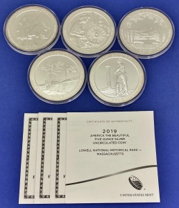 "2013 & 2019 US Mint ""America The Beautiful"" Silver Coins"