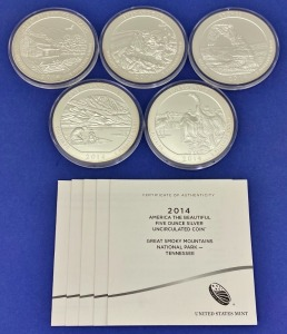 "2014 US Mint ""America The Beautiful"" Silver Coins"