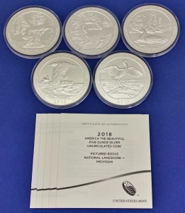 "2018 US Mint ""America The Beautiful"" Silver Coins"