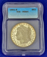 1881-S Morgan Silver Dollar MS-64 ICG