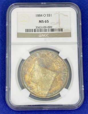1884-O Morgan Silver Dollar MS-65 NGC