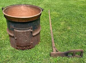 Early Copper Apple Butter Kettle
