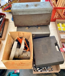 Toolboxes, Circular Saw, & Sockets