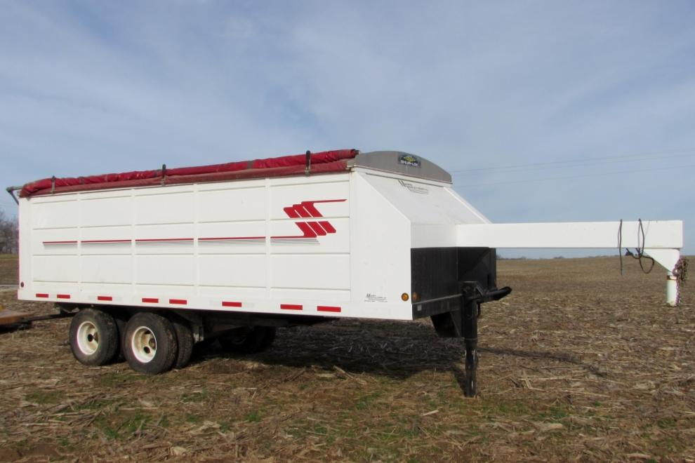 Maurer Gooseneck Hopper Bottom Grain Trailer - Current price