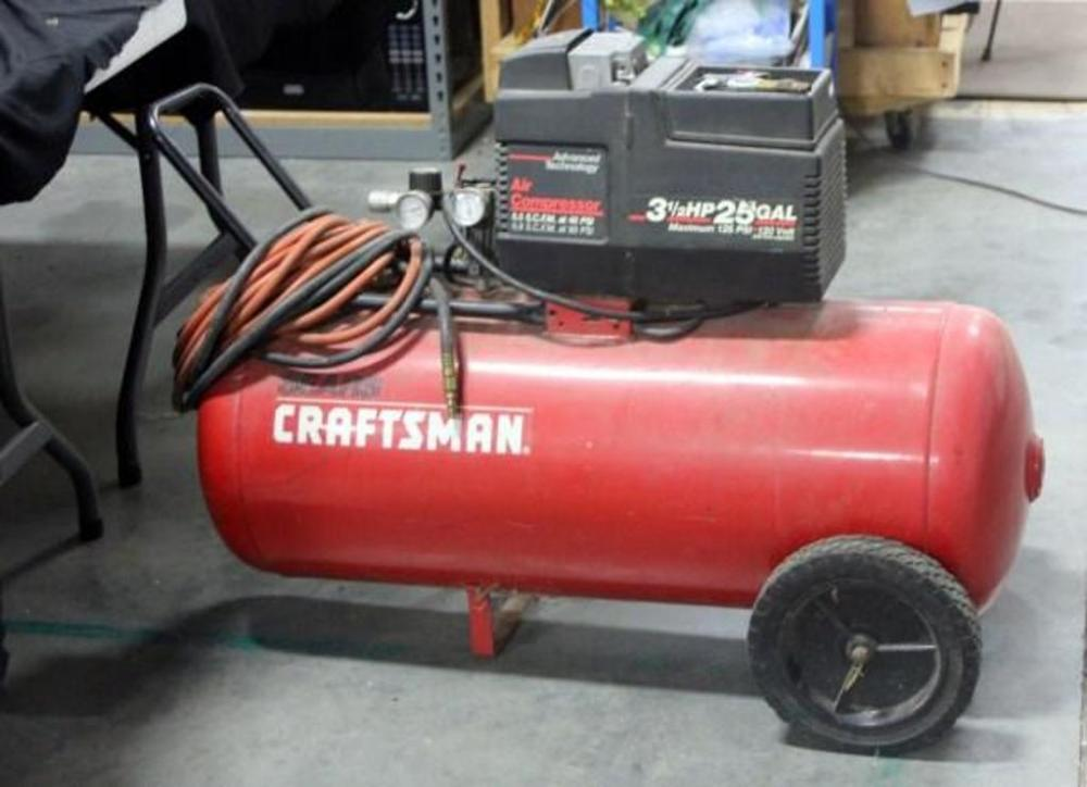 Sears Craftsman Air Compressor 3 1 2 Hp 25 Gal Model 919 155731 Untested Cur Price 50