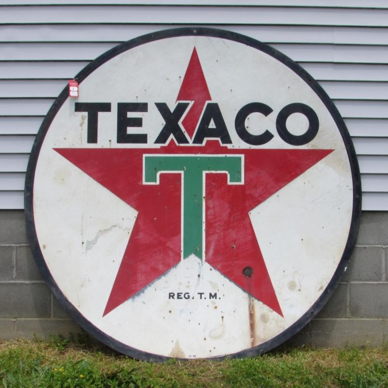 Vintage Texaco Station ID Sign & Pole - Current price: $3900