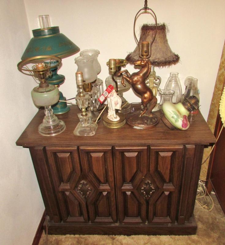 Magnificent Vintage Table Lamps Stereo Cabinet Current Price 20 Interior Design Ideas Gentotryabchikinfo