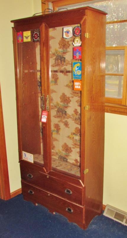 Oak Glass Door Gun Cabinet Current Price 18