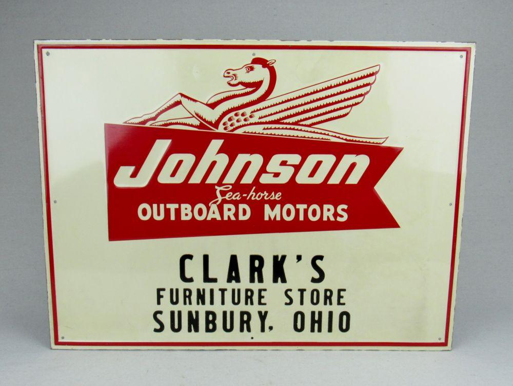 Johnson Outboard Motors SST Sign - Current price: $225
