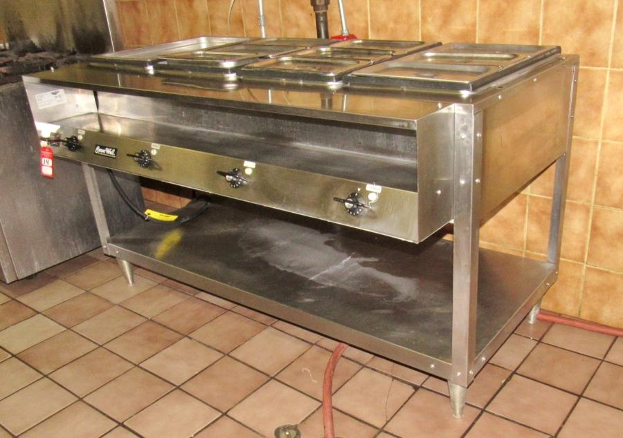 Vollrath ServeWell Electric Pan Sealed Well Steam Table - 4 well gas steam table