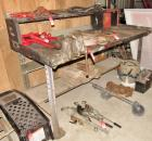 Large Steel Shop Table with Vise