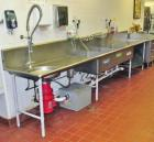 Stainless Steel Triple Sink with Disposal