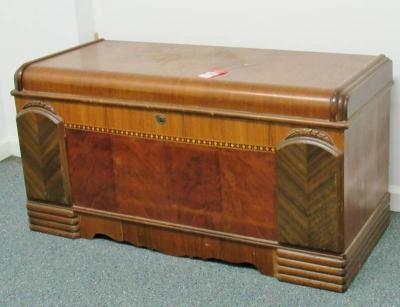 Vintage Waterfall Style Cedar Lined Blanket Chest