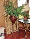 Decorative Iron Plant Stand & Artificial Plant