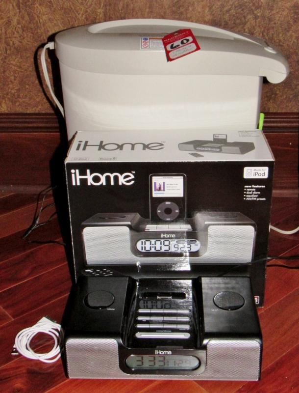 iHome Clock/Radio and Crosscut Shredder - Current price: $28