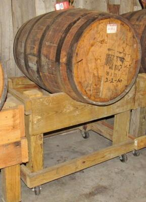 Early Times 55 Gallon Wooden Whiskey Barrel