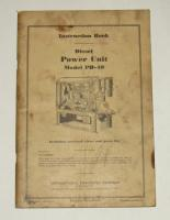 IH PD-40 Diesel Power Unit Instruction Manual